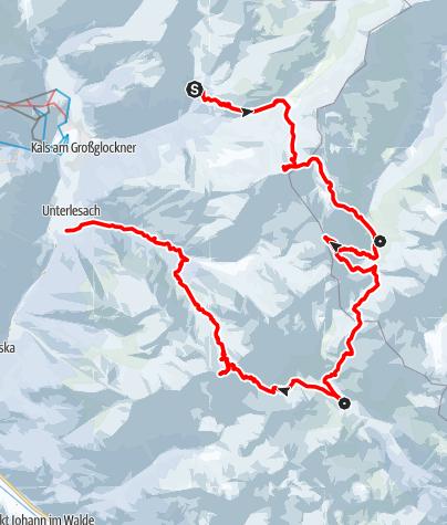 Karte / Schobergruppe Skidurchquerung