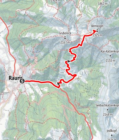 Karte / Rauris: Rauris- Karalm- Bernkogel Nr. 117
