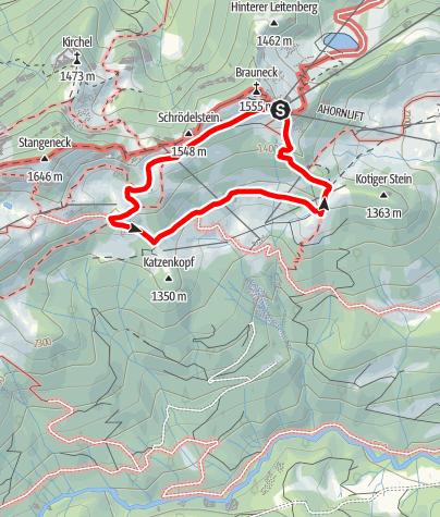 Karte / Lenggries - Brauneck; Almwanderung