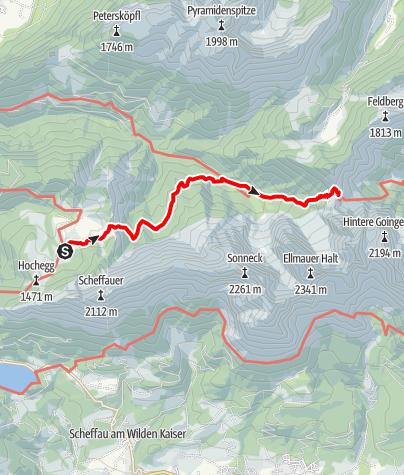 Karte / 3 Tage Kaisergebirge Etappe 2