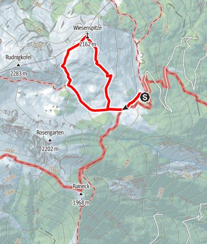 Karte / Edelweißwanderung zur Wiesenspitze