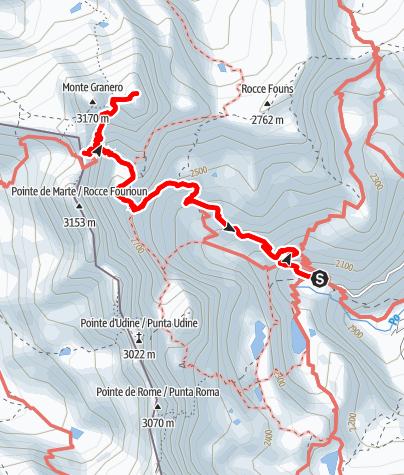 Karte / Cima Meidassa 3105 m vom Pian del Re