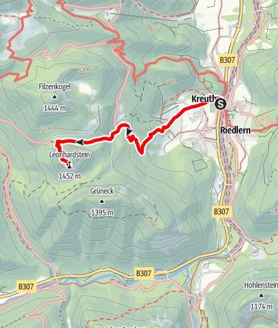 Karte / Auf den Leonhardstein