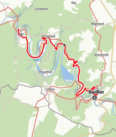 Karte / Bouillon - Alle-sur-Semois