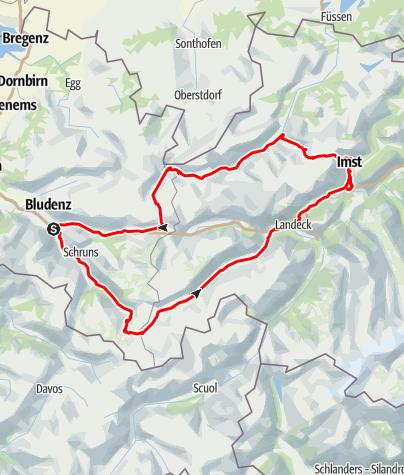 Karte / Bludenz-Silvretta-Hantenjoch-Flexenpass