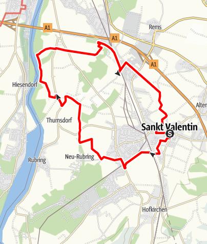 Karte / St. Valentin -  ÖAV Wanderweg 481