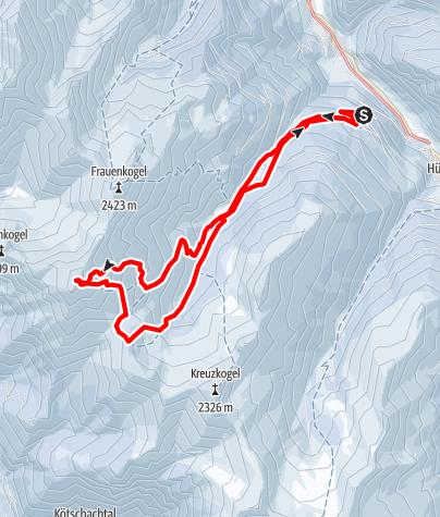 Karte / Großarltal: Gamskarkogel (2.467 m)