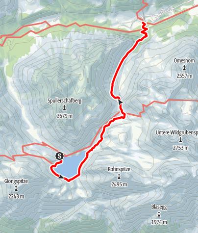 Karte / Über das Stierlochjoch zum Spullersee