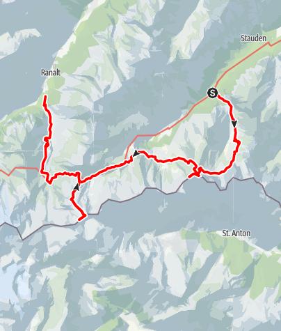 Map / Auf den Östlichen Feuerstein - über Dolomieuweg und Bremer Hütte