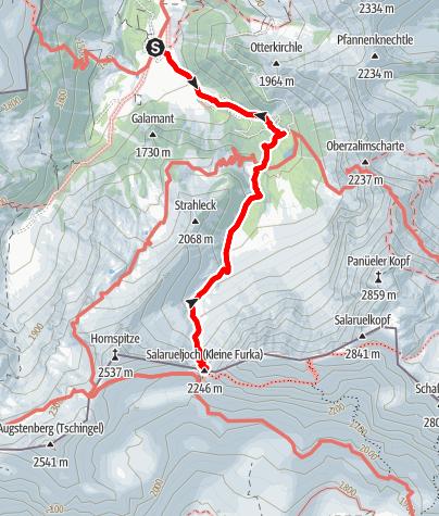 Karte / Salarueljoch