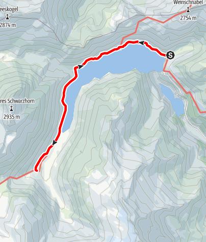 Karte / Wanderung zur Osnabrückerhütte