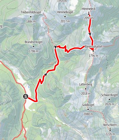 Karte / Himmeleck - Hintertriebental