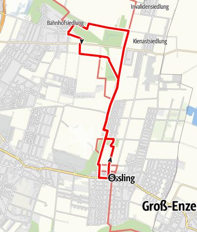 Karte / Essling - Himmelteich - Breitenlee