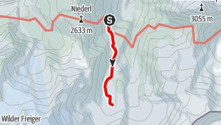 Karte / Nürnberger Hütte - Freigersee