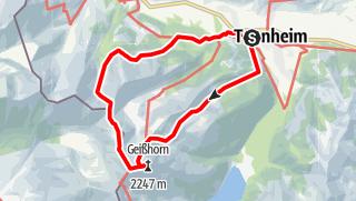 Mappa / Von Tannheim auf das Gaishorn (Geisshorn)