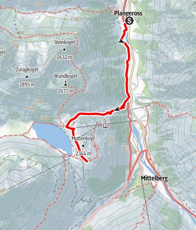Karte / Zum Riffelsee 2676 m und der Riffelseehütte 2289 m  - leichte Wanderung