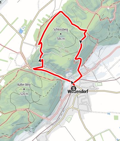Karte / Winzendorf Rundwanderweg 6, Eselsteig - Ruine Emmerberg