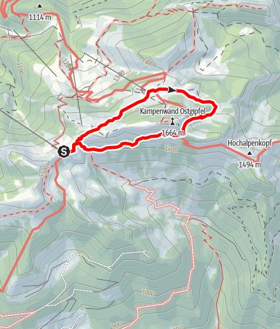 Karte / Kampenwand Umschreitung