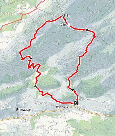 Karte / Wildhaus-Schafberg-Säntis-Wildhaus