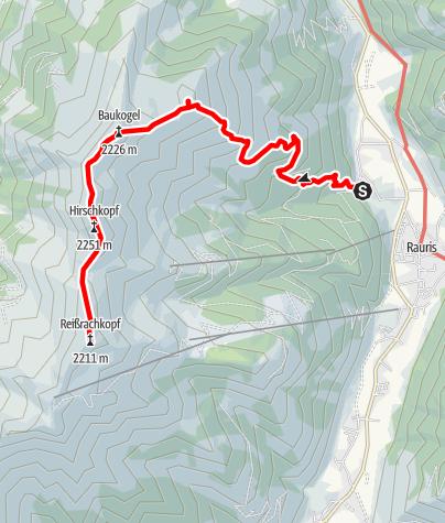 Karte / Rauris: Hundsdorf-Penninghofalm-Rosskopf Nr. 125