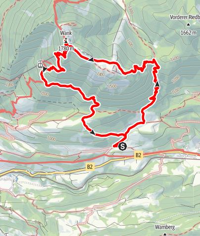 Karte / Auf den Wank
