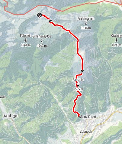 Karte / Aflenz-Kurort - Hühnersteigkogel - Fölzsattel