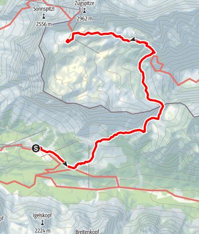 Karte / Zugspitze light übers Gatterl
