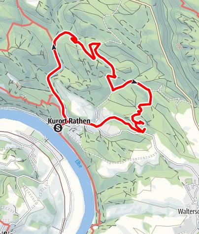 Karte / Von Rathen auf den Gamrig