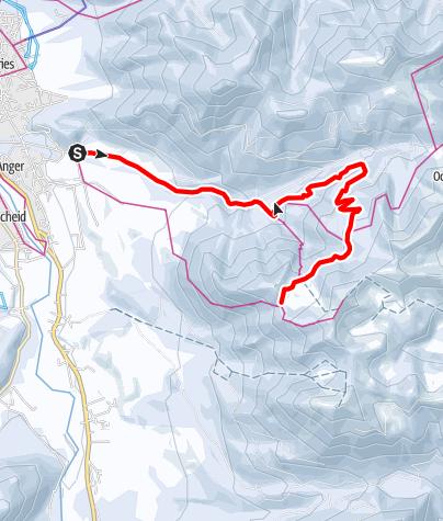 Map / Winterwandern: Lenggrieser Hütte von Lenggries
