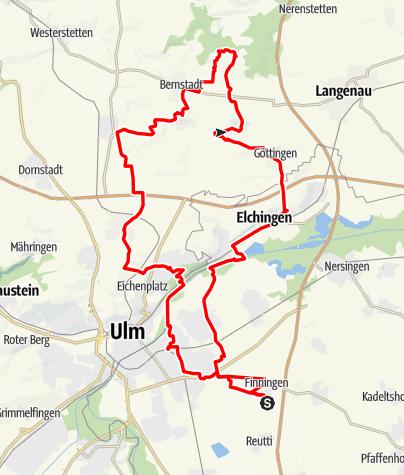 Karte / Trainingsrunde 57 km