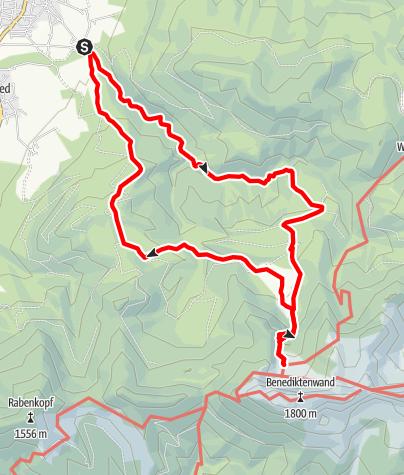 Karte / Tutzinger Hütte von Gschwendt