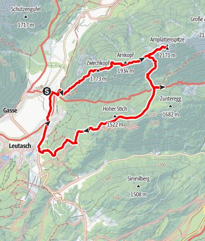 Karte / Ahrnplattenspitze 2.170 m