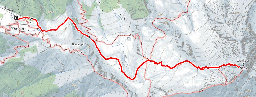 Karte / Einmal Ahornspitze und retour