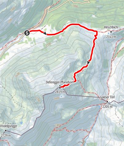 Map / Deferegger Pfannhorn