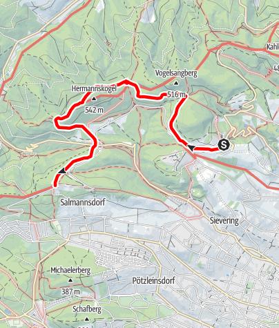 Karte / Rundumadum Stage 2: Cobenzl - Häuserl am Roan