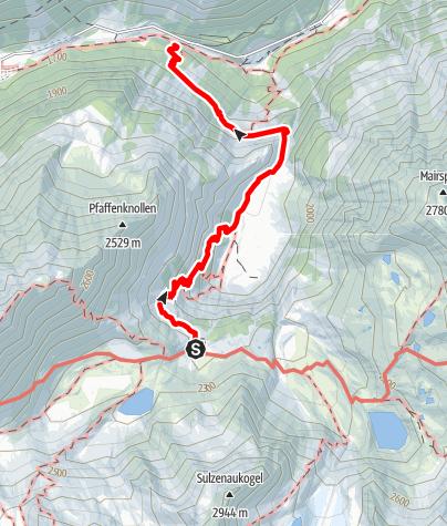 Map / Sulzenauhütte - Bushaltestellte Sulzenau