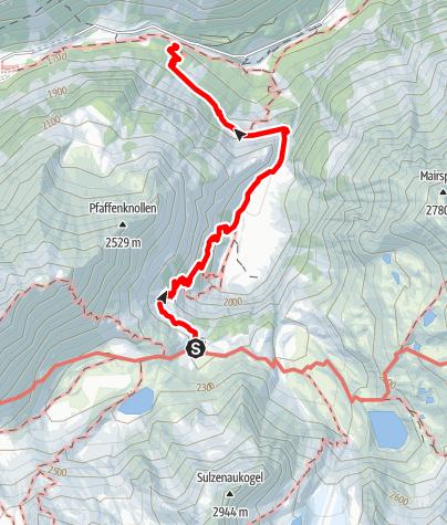 Karte / Sulzenauhütte - Bushaltestellte Sulzenau