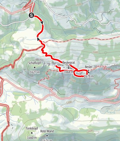 Karte / Alpines Abenteuer am Besler