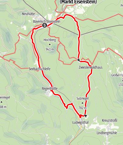 """Karte / Strecke 2 - 24 Stunden von Bayern 2010 """"Nationalpark Tour"""""""