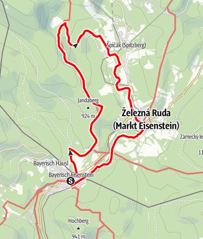 """Karte / Strecke 4 - 24 Stunden von Bayern 2010 """"Fitnessrunde Böhmerwald"""""""