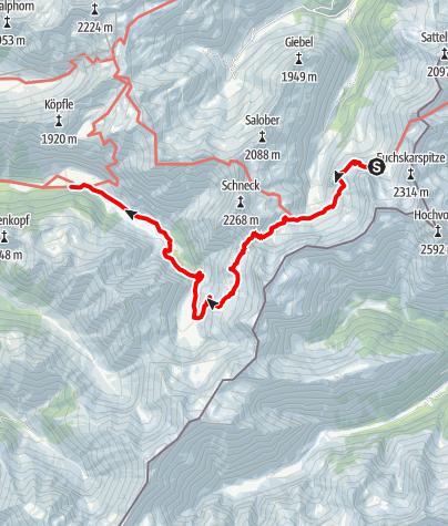 Karte / Der Michel vom Luitpoldhaus Oytalhaus