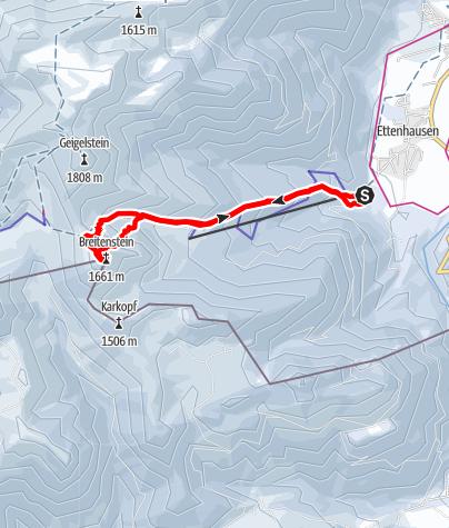 Karte / Skitour Breitenstein (Schleching)