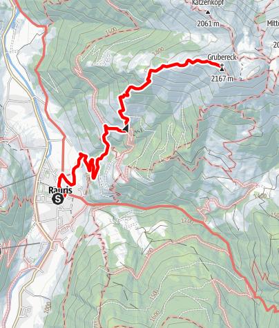 Karte / Rauris: Rauris - Grubereck Nr. 3