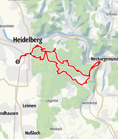 Karte / Königstuhlrunde Variante Waldhilsbach
