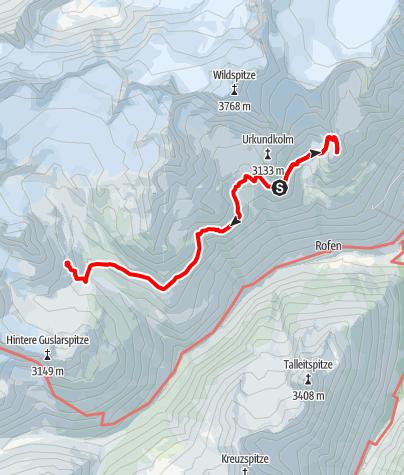 Karte / Aufs Wilde Mannle und weiter auf die Vernagthütte