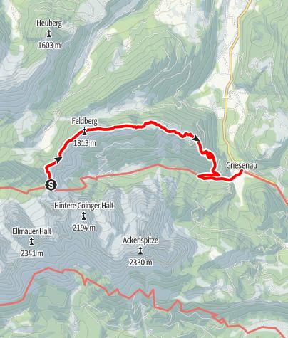 Karte / 3 Tage Kaisergebirge Etappe 3