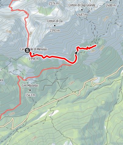 Karte / 05 VOM ELBELPASS ZUR DE GASPERI HÜTTE - Sappada