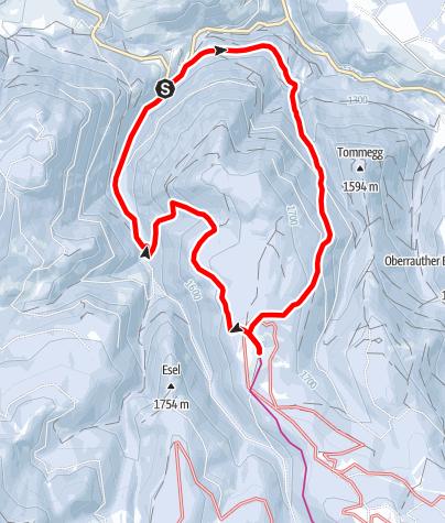 Karte / Liegalm Schneeschuhwanderung
