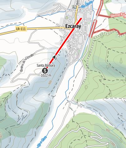 Karte / Ruta Ezacaray