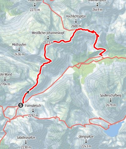 Karte / Über den Steinmayerweg zur Göppinger Hütte